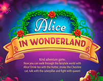 Alice in Wonderland - Game UI design
