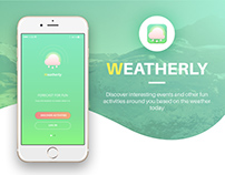 Weatherly Social App Concept