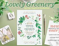 Lovely Greenery Wedding Card I