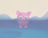 Floating Pig - 3D Animation