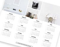 Free Minimalist Printable Calendar PSD Templates