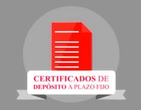 Motion graphic para certificados de depósito a plazo