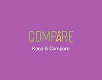 Branding Case Study: Compâre - Keep & Compare