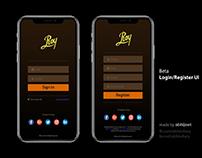 Beta - Login/Register UI