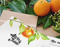 Wedding Invitations with an Orange Theme