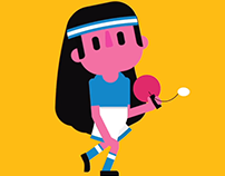 Girl play animation