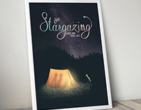 Stargazing! Illustration & Hand Lettering