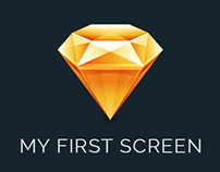 My first screen using Sketch