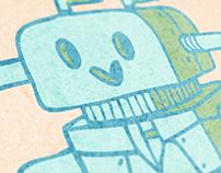 A cute robot