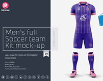 Men's Full Soccer Team Kit mockup V9