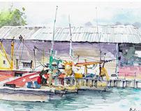 Watercolour Plein Air at Ketam Island