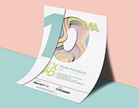 Afiche 10ª Expo Diseño Profesional Duoc Uc 2018