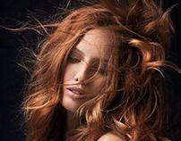 Flying ginger hair