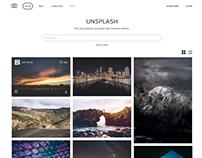 Unsplash.com Redesign