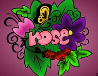 ROSE - Digital Doodle Art