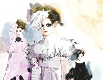 Chanel X J.T Fashion Illustration