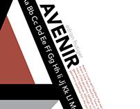 Avenir Specimen Poster