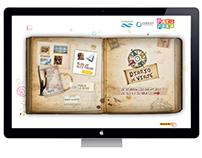 Diseño web de Diario de Viaje. Pakapaka