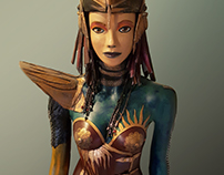 Fantasy art statue
