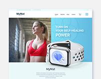 Web design. Adobe XD. MyMat by Healing House.