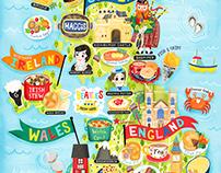 United Kingdom Map Illustration