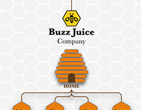 Buzz Juice Sitemap Mockup