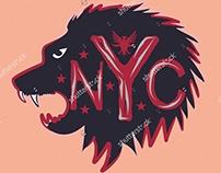 New york city graphic design set vector art