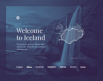 Iceland Travel UI Concept