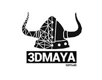 T-shirt print. 3DMAYA