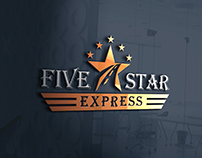 Five Star Express Logo Design