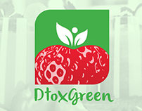 Dtox Green Logo Design