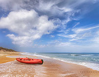 Photography - Red Kayak on Beach