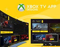 Xbox TV App Designs