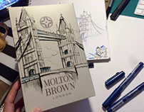 Molton Brown London drawing session