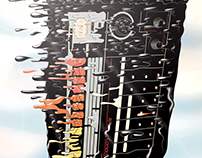 Ilustración Roland 808 para Chaval Records 2010