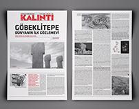"""""""Kalıntı"""" Tarih Bülteni Sayfa Tasarımı"""