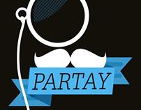 Mustache Party Announcement