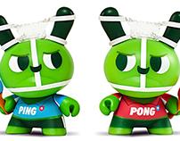 KidRobot Dunny Ping & Pong