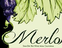 Wine Merlot Label