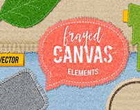Frayed Canvas Patches + Free stuff