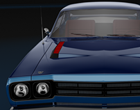 Muscle Car - Plymouth Roadrunner - 3dsMax, Vray