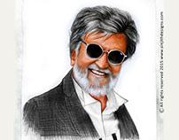 Kabali - Actor Rajinikanth - Colored Pencil Drawing
