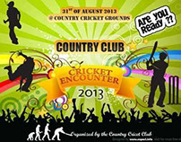 Free Events Banner Vector - PSD - Cricket tournament