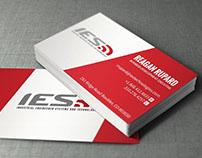 IES Logo and Business Card Design
