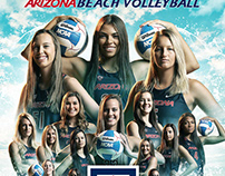 Arizona Schedule Posters - Beach Volleyball & Tennis