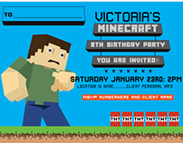 Victoria's Minecraft Birthday Party (Client Project)