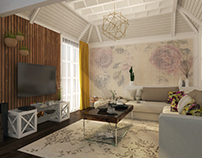 Vintage living room design at SIA office