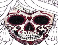 dead girl tattoo art candy