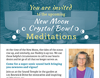 Crystal Bowl Meditations Promotional Materials