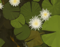 Illustration: Teh pond of water lilies